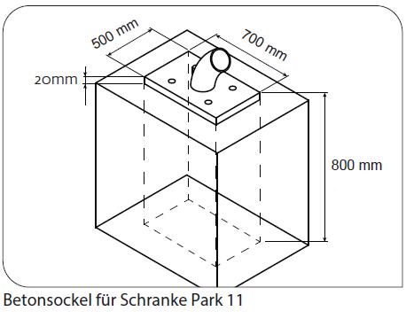 betonsockel Schranke